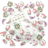 floral unicorn clear sticker flakes pack of 50 stickers flake