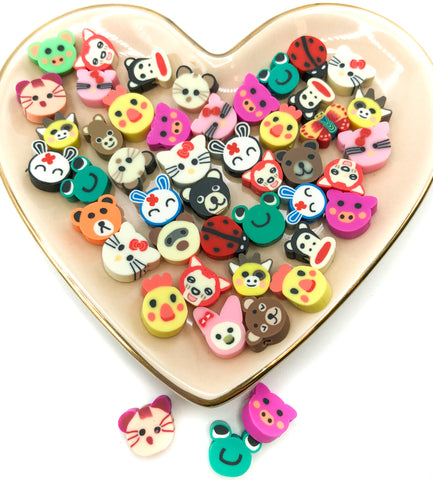 animal bead beads polymer clay fimo poly animals cute kawaii