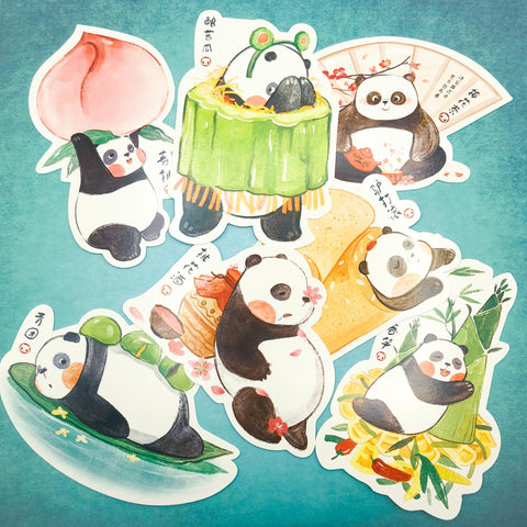 cute kawaii panda post card postcard postcards pandas uk stationery bundle bundles shaped cards