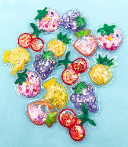 fruit shaker sequin sequins shakers clear plastic appliques glue on embellishments cute kawaii uk craft supplies