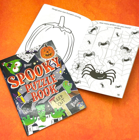 spooky halloween kids puzzle book puzzles activity gift gifts uk
