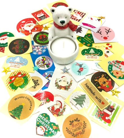 festive christmas sticker bundle bundles of 32 mixed stickers kawaii stationery