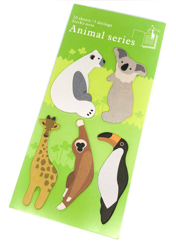 standing page marker index tabs sticky memo pack sloth koala bird animals giraffe polar bear pack