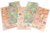fairytale gold foil foiled flat sticker pack stickers fairy tale tales princesses princess