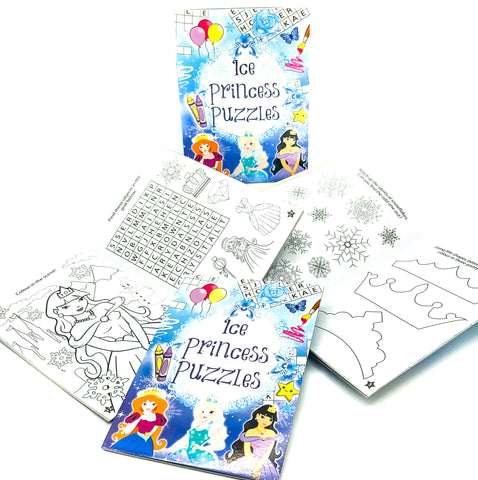 ice princess frozen theme puzzle book books activity for kids girls uk cute gifts