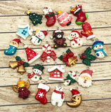 resin glitter christmas charm festive charms uk cute kawaii craft supplies snowman santa tree house candy cane bear stocking glittery AB