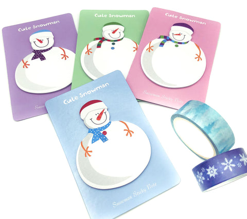 cute pastel kawaii snowman memo sticky pad memos christmas festive gift uk cute kawaii snowmen stationery note notes