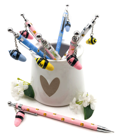 bee bees propelling pencil pencils charm stationery cute