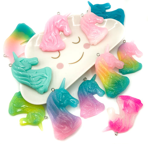 Large Unicorn Resin Charm Pendant 56mm or 65mm