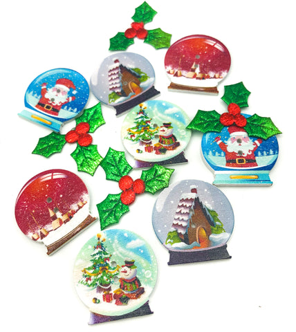 large 30mm snow globe wooden buttons globes wood button