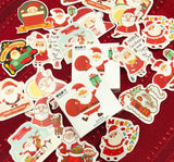 father christmas santa mini sticker flakes box of 48 stickers