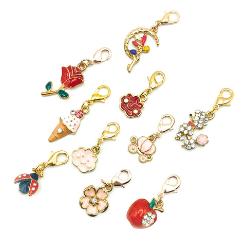 planner charm clip pink and red charms clips uk kawaii stationery journaling accessories