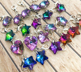 rainbow colour colours glass heart star snowflake planner charm clip uk cute kawaii planning charms clips stitch markers