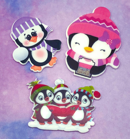 christmas penguin penguins resin acrylic flatback fb flat back backs penguins planar cute kawaii craft supplies uk