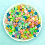 glow in the dark 6mm round small bead beads bundle uk cute kawaii craft supplies