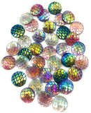 12mm acrylic fb mermaid scales flat backs sparkly round