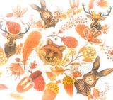 woodland animals sticker flakes flake stickers pack of 40 translucent fox deer rabbit