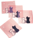 cello cellophane bags cute pink cats black and white cat with hearts kawaii packaging bag self seal uk