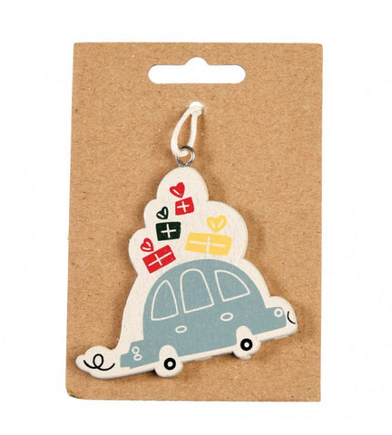 driving home for christmas wood wooden tree decoration festive retro vintage style uk cute kawaii gift gifts