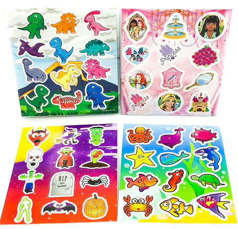 childrens stickers kids princess dinosaur halloween ocean animals cute sticker sheet uk
