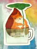 cute squirrel in mug cute teacup postcard post card cards uk kawaii stationery store pretty animal animals