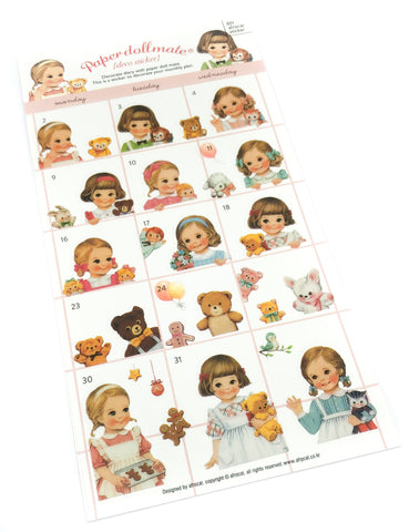 vintage childhood dolls girl girls toys style retro clear stickers sticker pack planner uk cute kawaii retro stationery