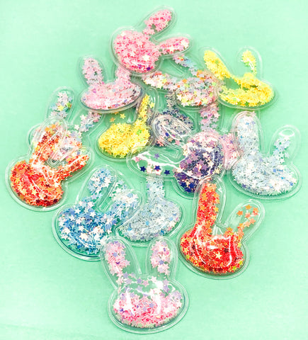 clear plastic bunny rabbit shaker embellishments bunnies shakers star sequins 38mm uk craft supplies easter rabbits