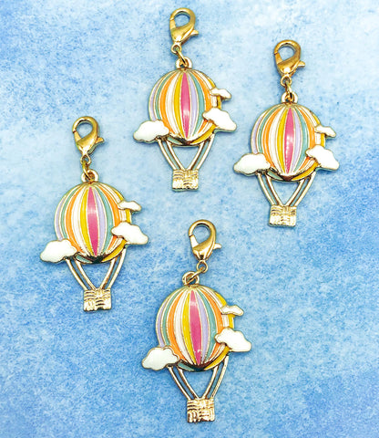 planner charm clip clips charms uk kawaii cute hot air balloon balloons pastel gold tone enamel planning accessories gift gifts