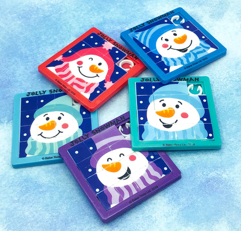 festive christmas snowman snowmen sliding block puzzle puzzles kids gift gifts uk stocking fillers cute kawaii