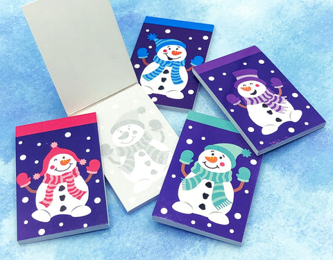 mini cute snowman snowmen kids kid notepad notebook uk kawaii stocking fillers gift gifts small memo