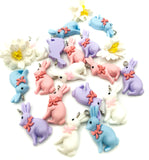 kawaii bunny rabbit rabbits charm charms resin