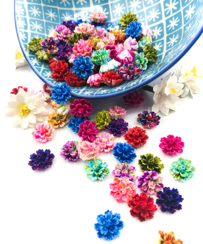 Ombre Resin 13mm Chrysanthemum Flowers