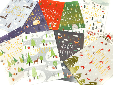 scandi nordic postcard post card cards postcards festive christmas bundle uk cute kawaii stationery style