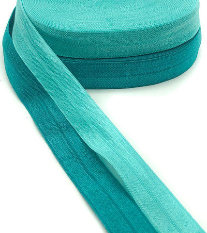 plain turquoise teal elastic ribbon foe kawaii cute elastics ribbons uk craft supplies