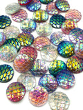 mermaid scales scale 12mm resin sparkly fb flat back flatbacks