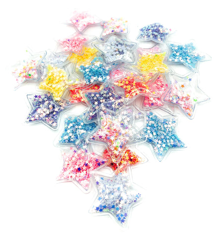 star stars shaker clear plastic sequin sequins applique embellishment uk craft supplies bow crafts centres bows glitter