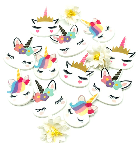 unicorn head acrylic fb flat back unicorns floral crown fringe