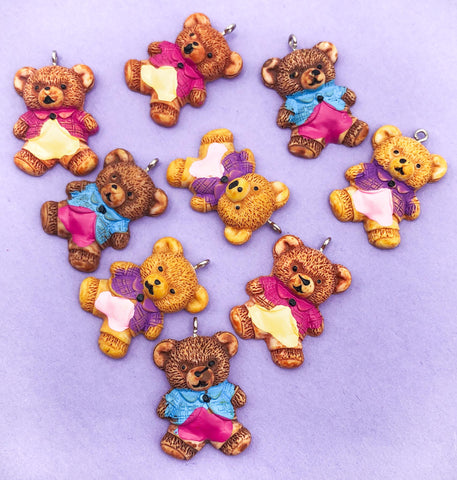 resin bear bears in clothes uk charm charms cute kawaii craft supplies