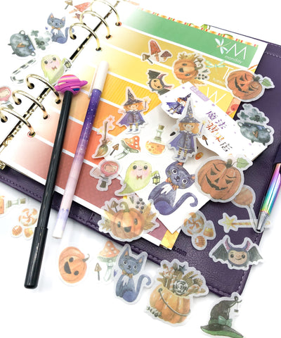 halloween sticker flakes translucent tracing paper stickers spooky flake pack 40