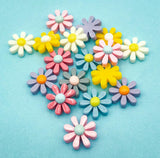 daisy flower daisies resin flatback flat back backs fb fbs uk cute kawaii craft supplies flower flowers resins