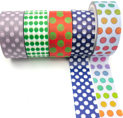 polka dot dots washi tape tapes uk stationery kawaii planner supplies