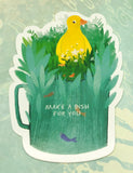 cute yellow duck in mug cute teacup postcard post card cards uk kawaii stationery store pretty animal animals