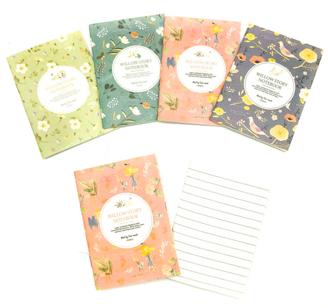 natural world willow story nature cream lined notebook mini note book notes uk cute kawaii stationery gift gifts