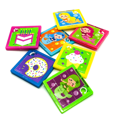 sliding kids block puzzle activity children uk cute gift gifts mermaid cake donut