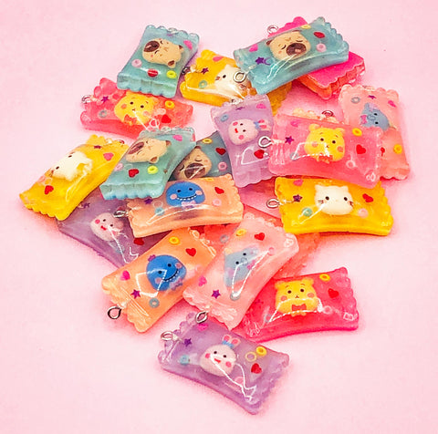 candy sweet sweets resin charm character cute kawaii faces big large charms uk craft supplies pendants