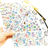 Crystal Gold-Foiled Puffy Stickers- Cinderella Princess Fairytale