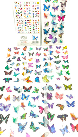bright butterflies sticker sheet sheets translucent planner stickers uk stationery