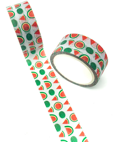5m watermelon cute washi tape tapes kawaii stationery uk red and green watermelons