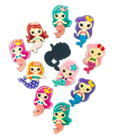 glossy acrylic mermaid mermaids flat backs fbs fb flatback kawaii cute craft supplies uk