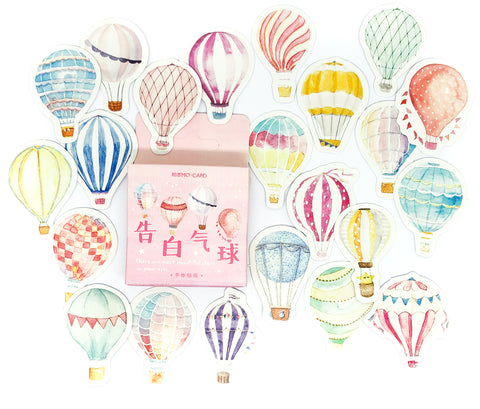 Hot Air Balloons Sticker Flakes Mini Box of 46